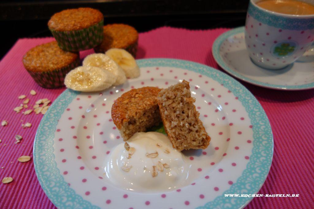 Fruhstucks Muffins Mit Haferflocken Bananen Und Joghurt Ohne Mehl